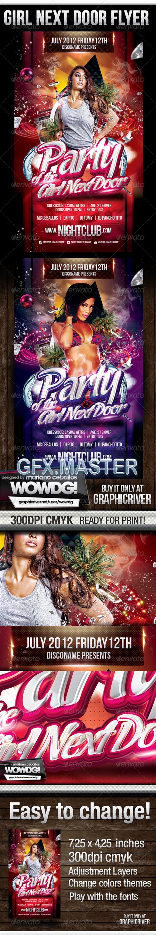 GraphicRiver - Girl Next Door Party Flyer