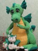 Форум почитателей амигуруми (вязаной игрушки) - Галерея - Просматривает изображение - Драконы- символ 2012года.